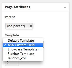 custom_field_page_template