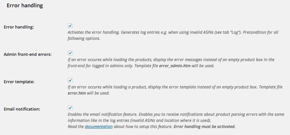 ASA error handling
